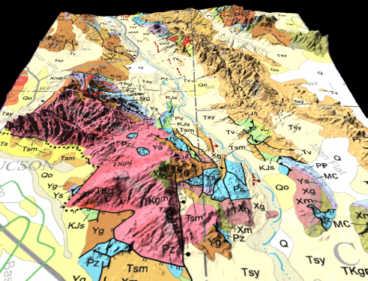3d Map Of Arizona.Arizona Geology 3d