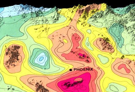 3d Map Of Arizona.Arizona Geophysics 3d